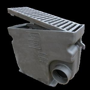 103060LP1-160 avaloir D400 Benor PTV802 grille plate barreaux 45°