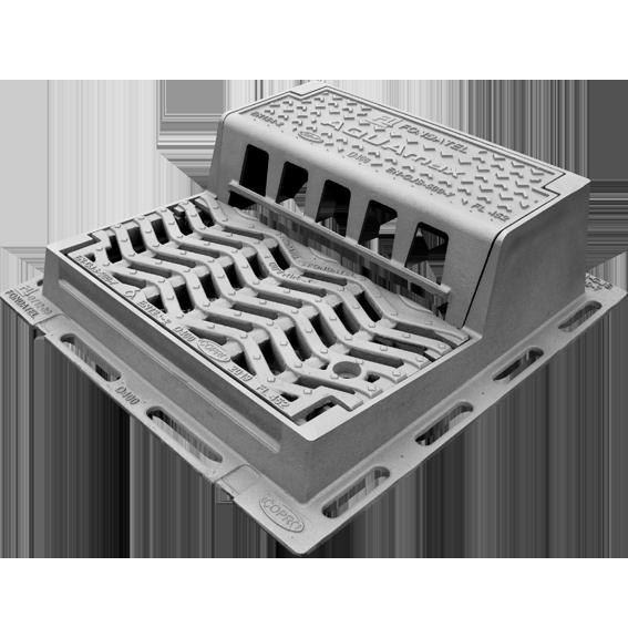 Aquamax Bouche d'égout – Grille avaloir à couvercle et grille articulés verrouillés D400 trafic intense.