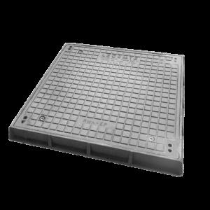 CH4 Regard de visite D400 à cadre et tampon carré